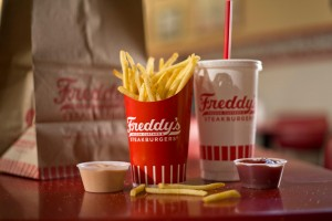 Freddy's fries, and fry sauce.