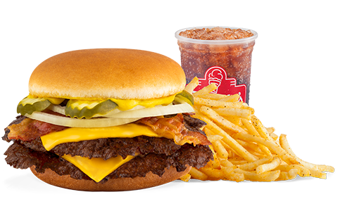Freddy's Bacon & Cheese Double Steakburger Combo