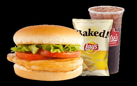 Freddy's Frozen Custard Combo Meal Chicken Sandwich