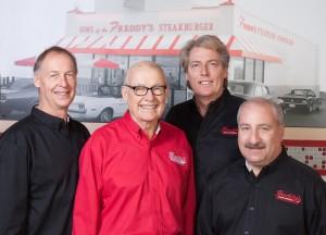 Freddy's Founders. Bill Simon, Freddy Simon, Randy Simon, Scott Redler.