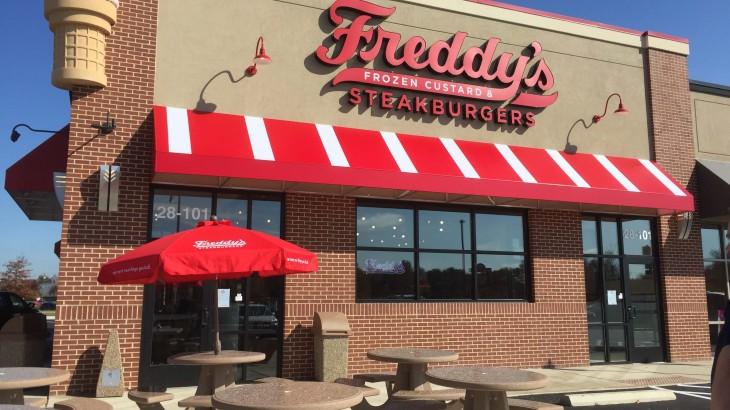 Freddy's storefront.