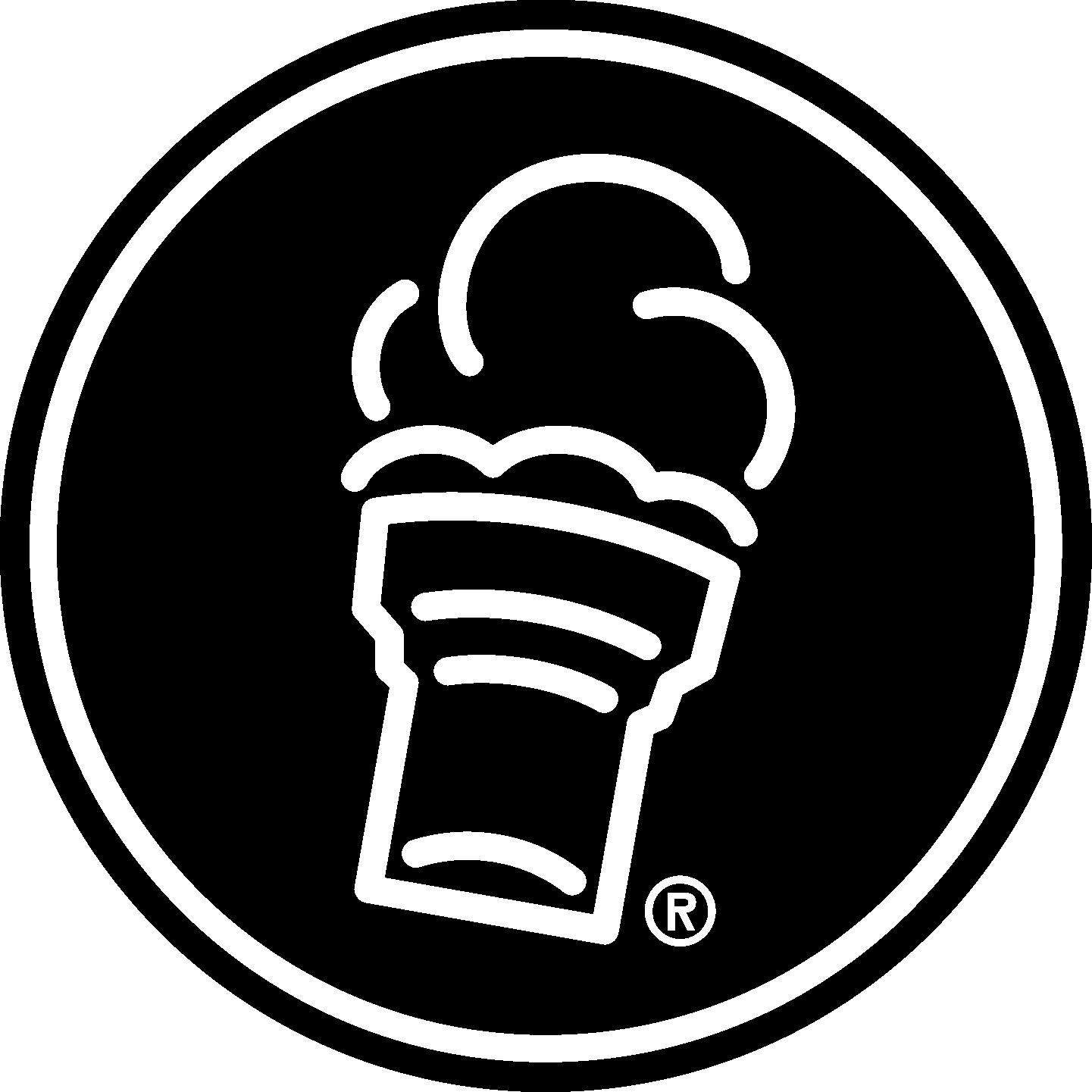 Freddy's Cone Icon Circle Black