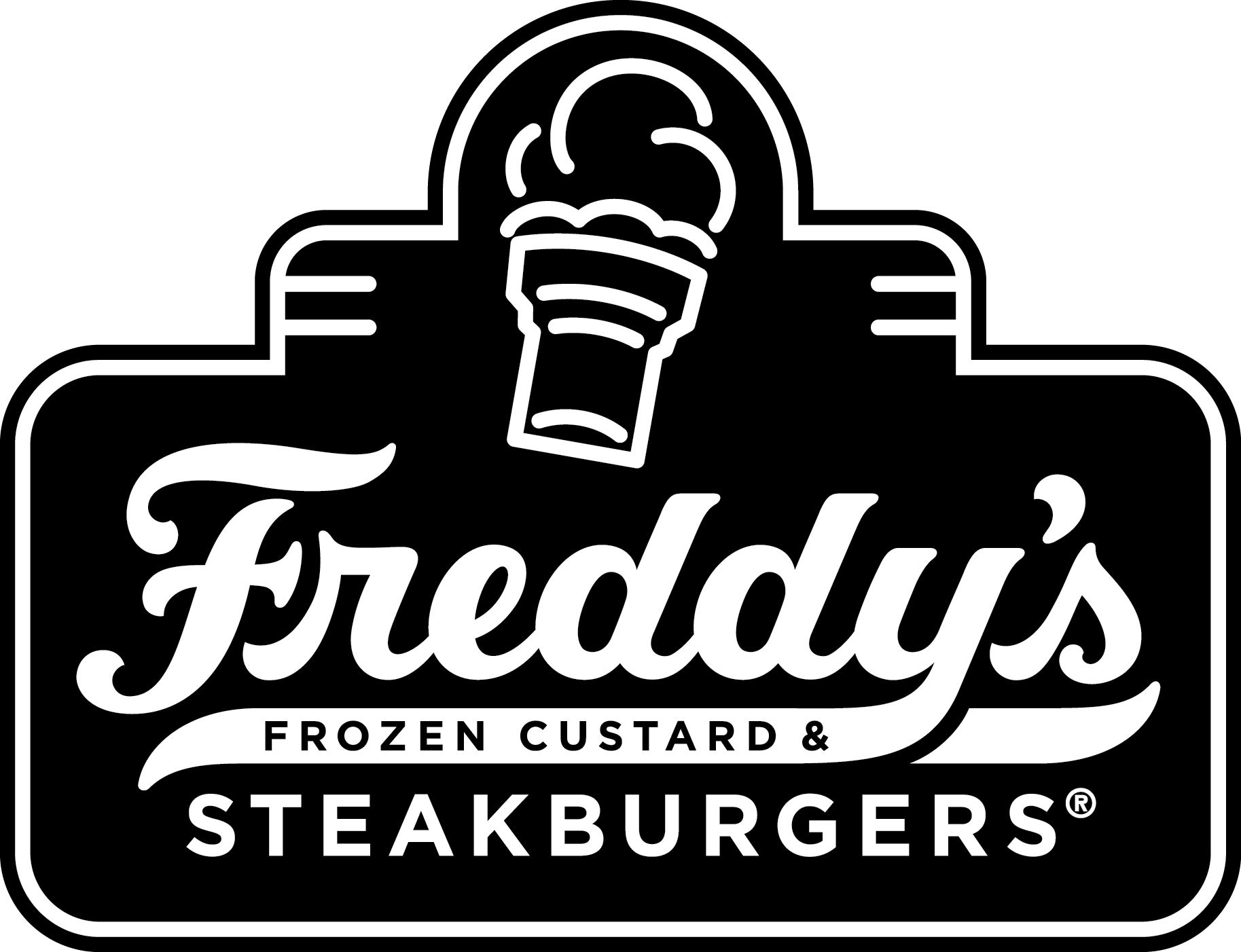 Freddy's Contained Shape Logo Black