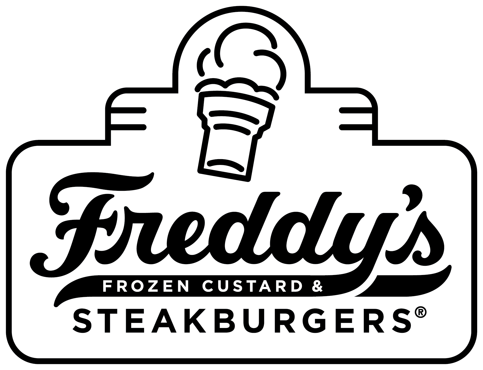 Freddy's Contained Shape Logo Reverse