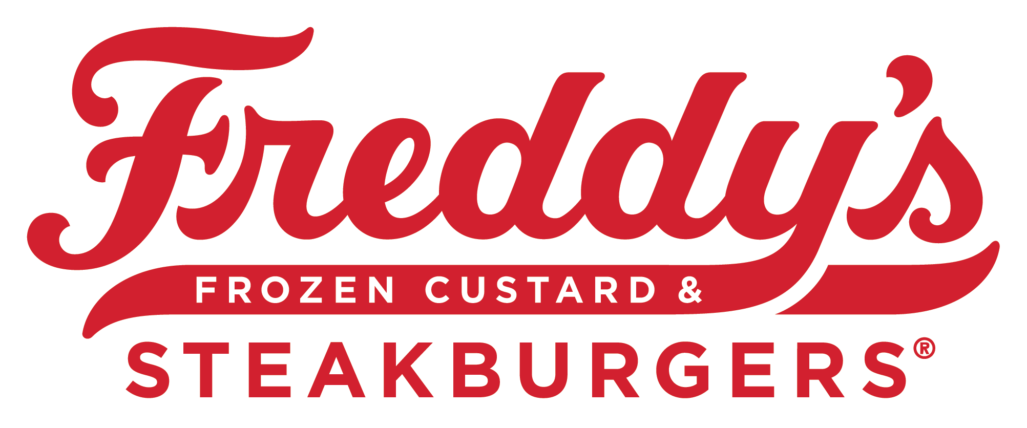 Freddy's Primary Script Outlined Logo