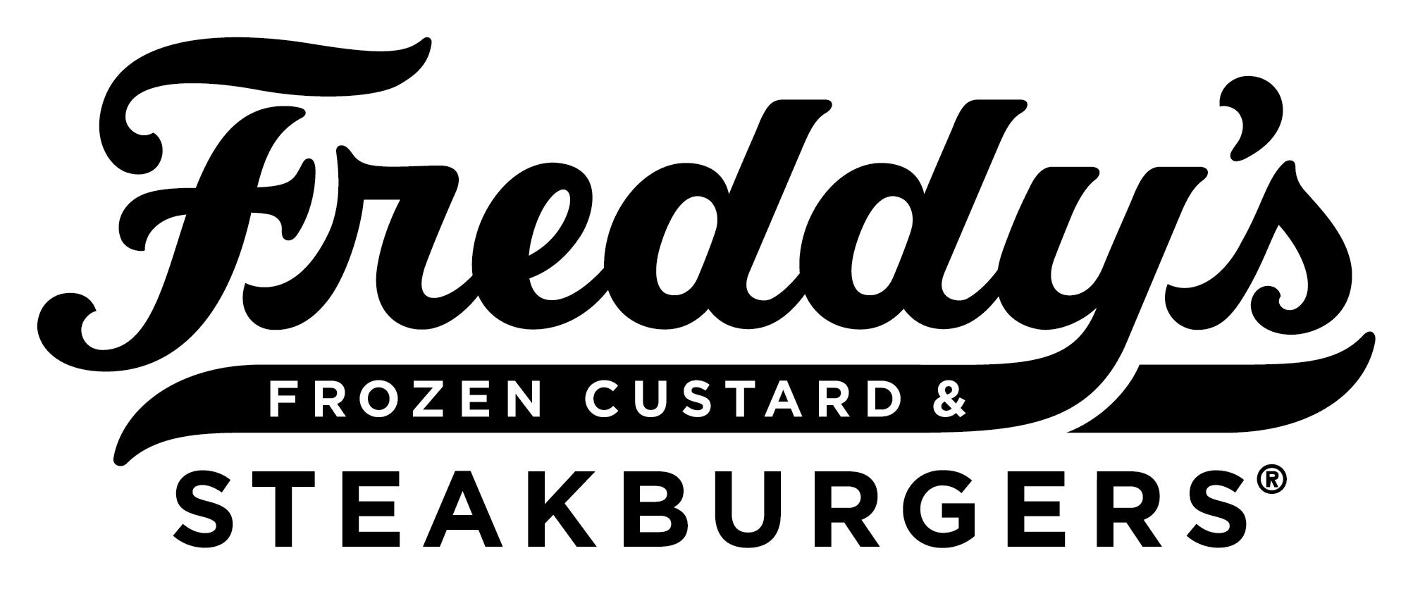 Freddy's Primary Script Outlined Logo Black
