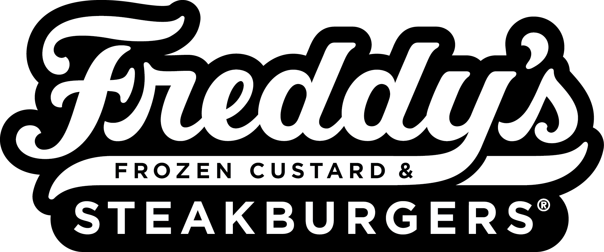 Freddy's Primary Script Outlined Logo Reverse