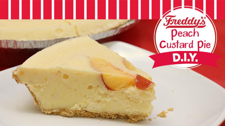 Freddy's Peach Custard Pie D.I.Y Pinterest Post.