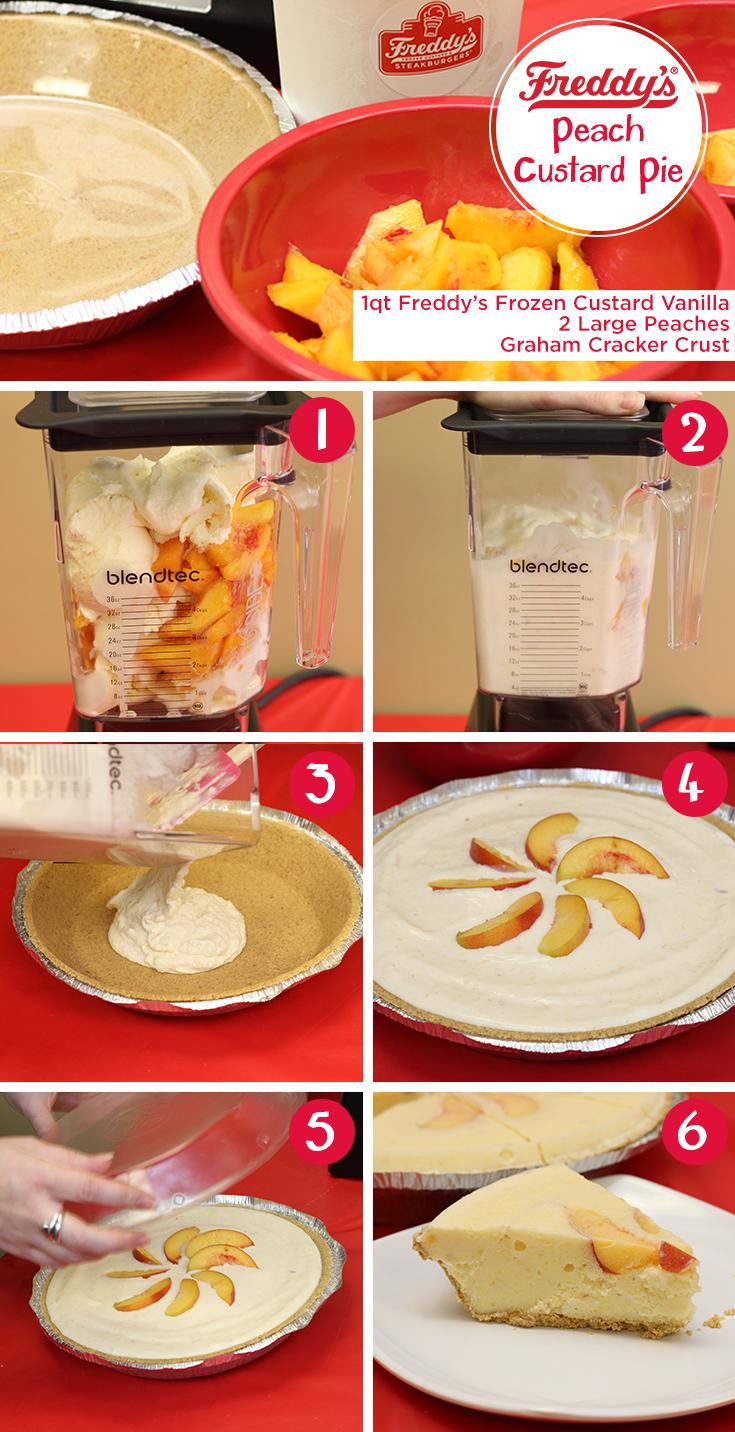 Peach Custard Pie Step By Step