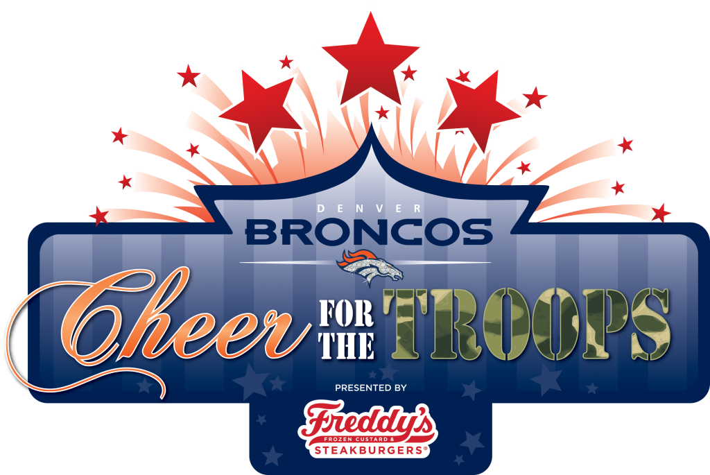 cheer for the troops denver bronocs freddys