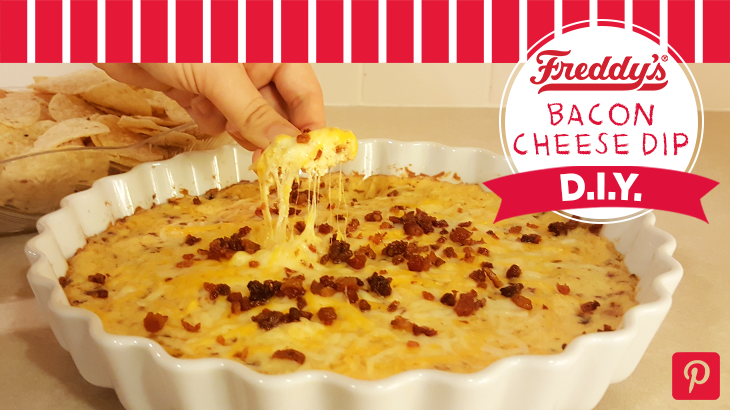 Bacon Cheese Dip D.I.Y Pinterest post.