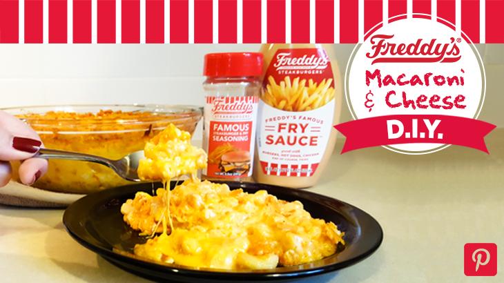 Freddy's Macaroni & Cheese D.I.Y Pinterest post.
