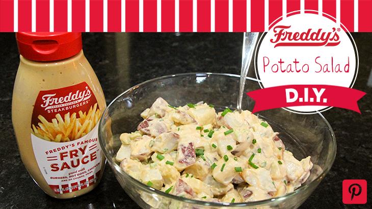 Freddy's World's Easiest Potato Salad D.I.Y Pinterest Post.