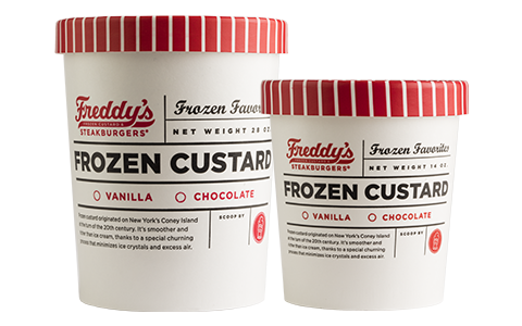 Freddy's Frozen Custard & Steakburgers Quart & pint