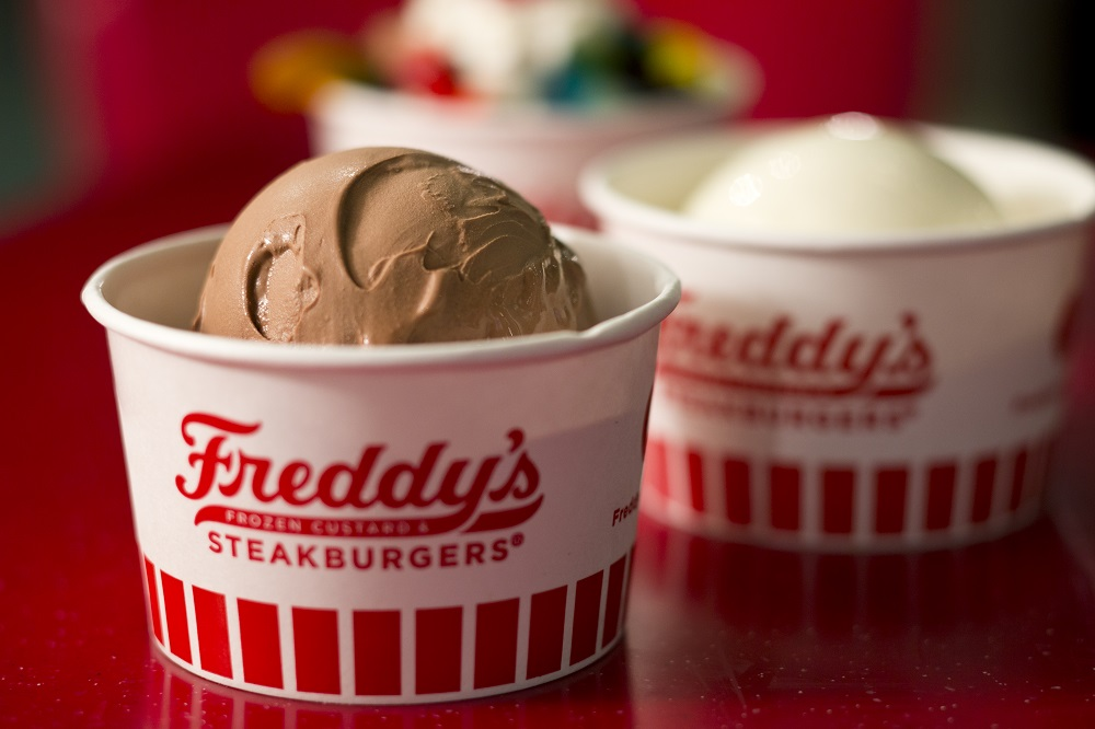 Two dishes of frozen custard
