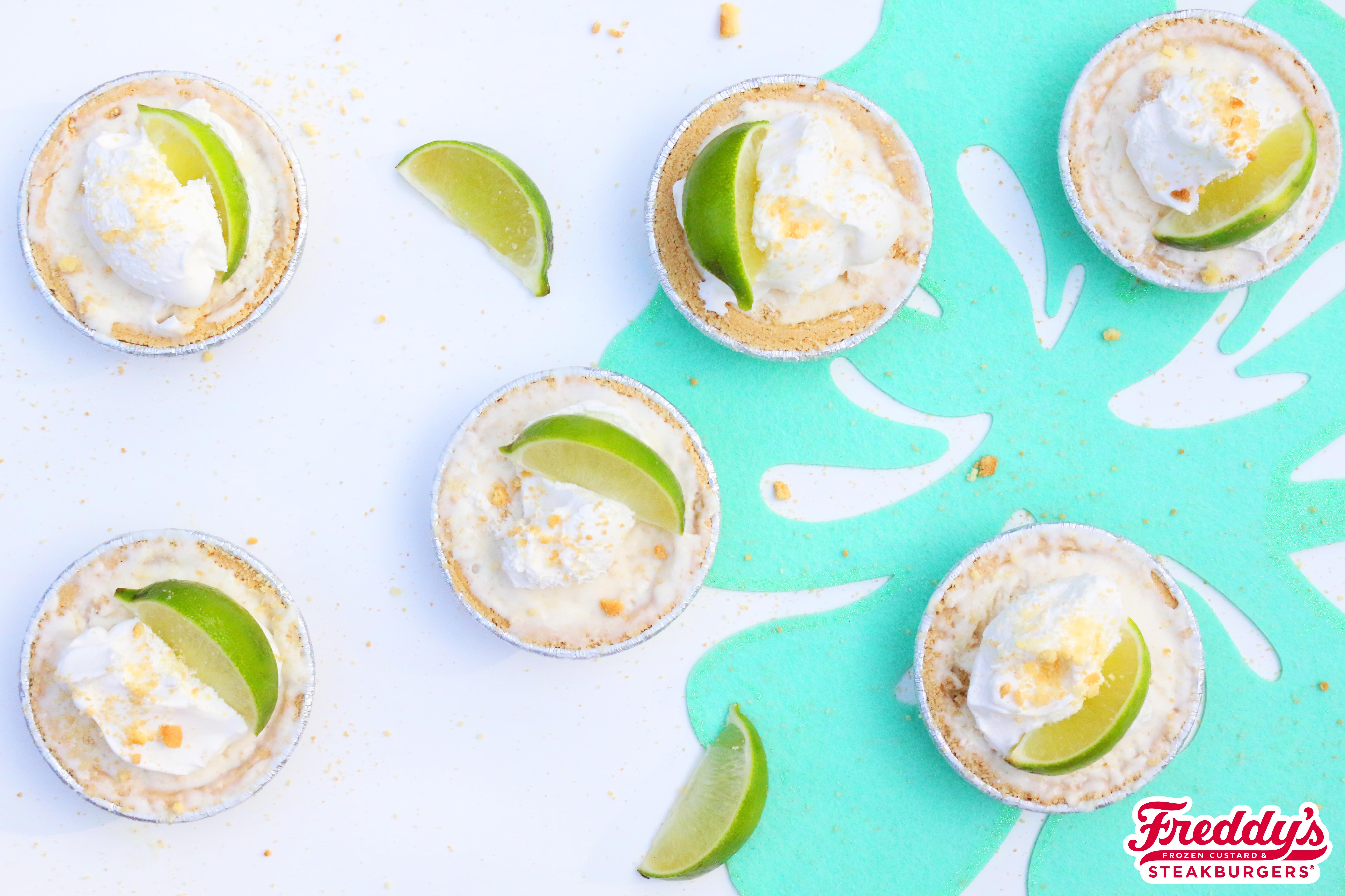 Mini pies filled with Freddy's Key Lime Custard
