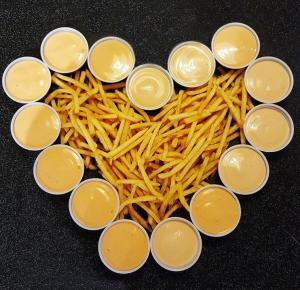 Freddy's Famous Fry Sauce in a heart shape