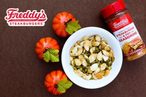 Roasted Pumpkin Seeds made with Freddy's Famous Steakburger & Fry Seasoning