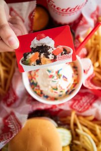 Pick up a gift card at your local Freddy's today, or order from our online store!