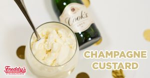 PFreddy's Frozen Custard blended with champagne.