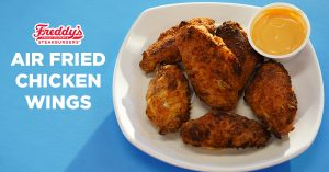 Chicken wings made with Freddy's Famous Steakburger & Fry Seasoning