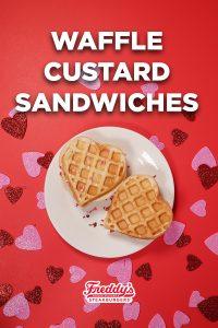 Waffle custard sandwiches