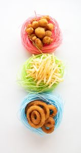 Easter baskets holding the best gifts- Freddy's sides!