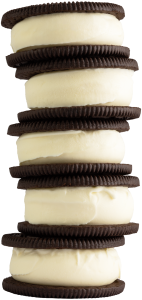 A stack of OREO Custard Sandwiches at Freddy's