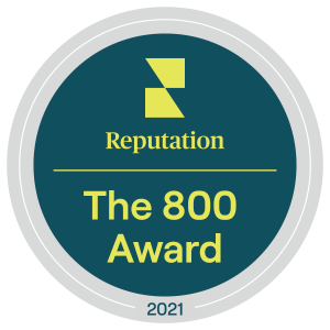 Reputation 800 Award