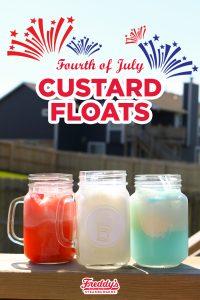 Fourth of July Custard Floats
