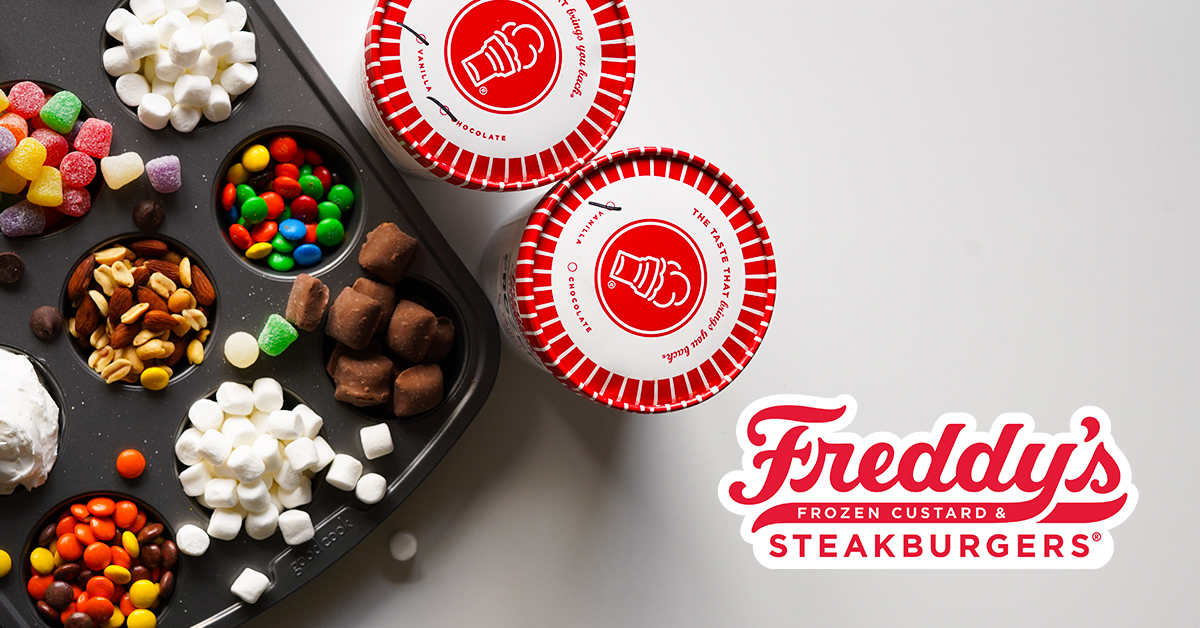 Create-Your-Own Sundae Bar made with Freddy's frozen custard!