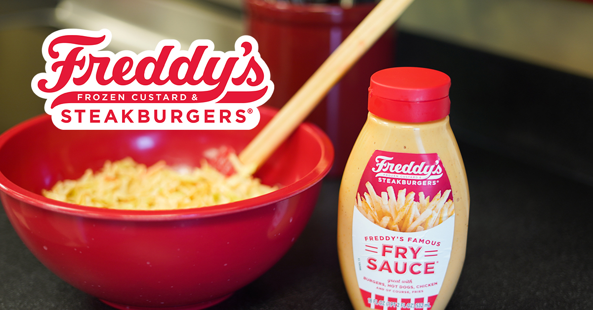 Coleslaw made with Freddy's Famous Fry Sauce