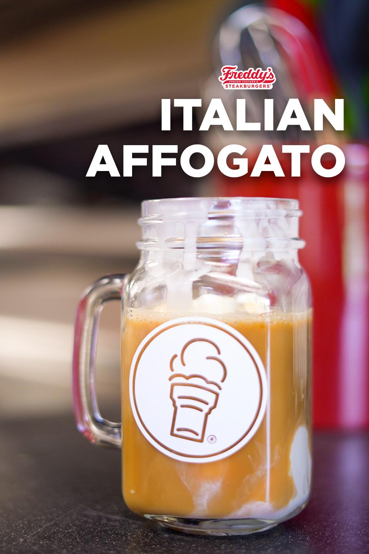 Italian Affogato made with Freddy's frozen custard