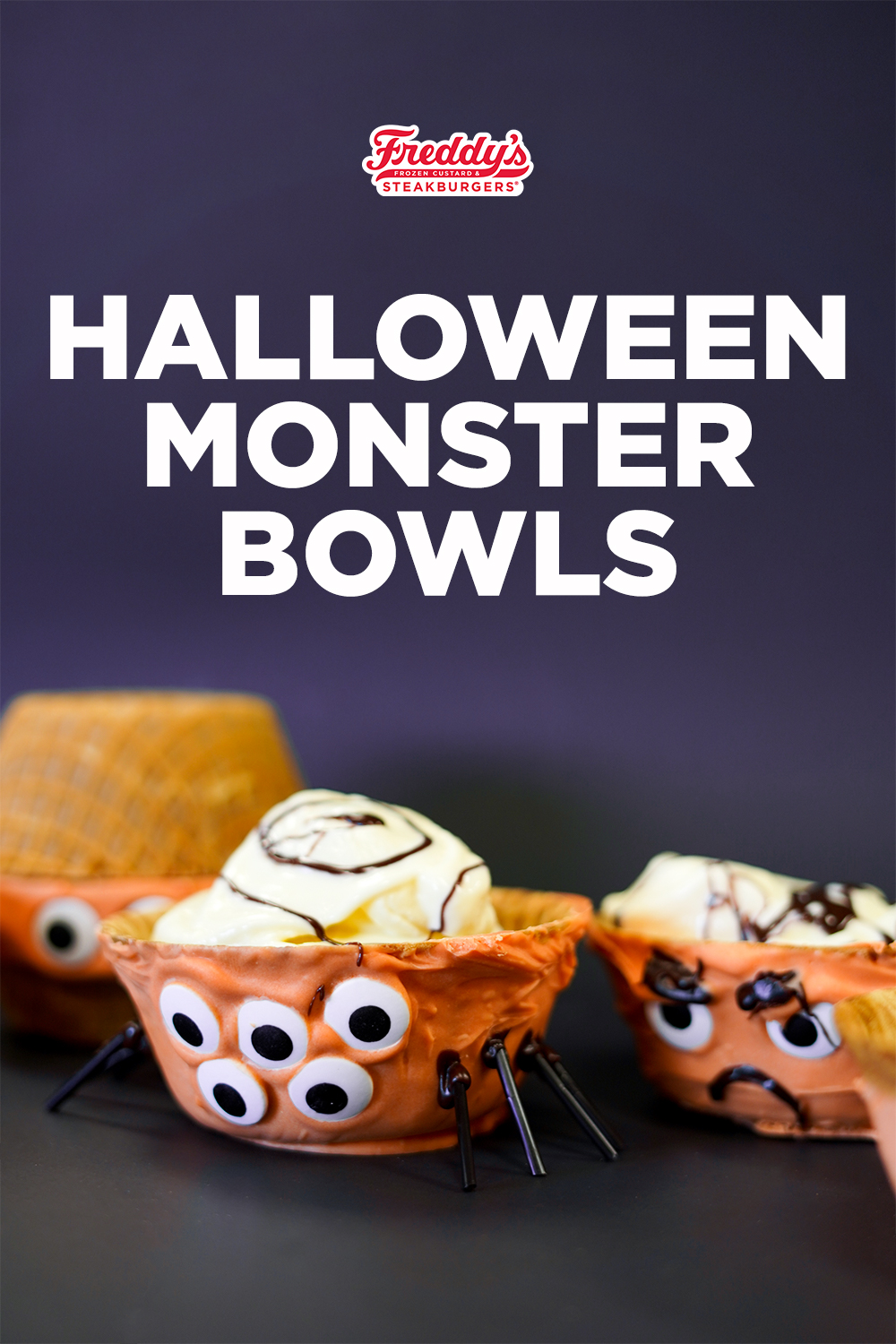 Monster Bowls made with our Freddy's Frozen Custard